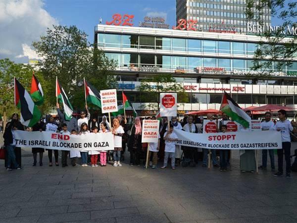 وقفة تضامنية لفلسطينيو أوروبا مع غزة